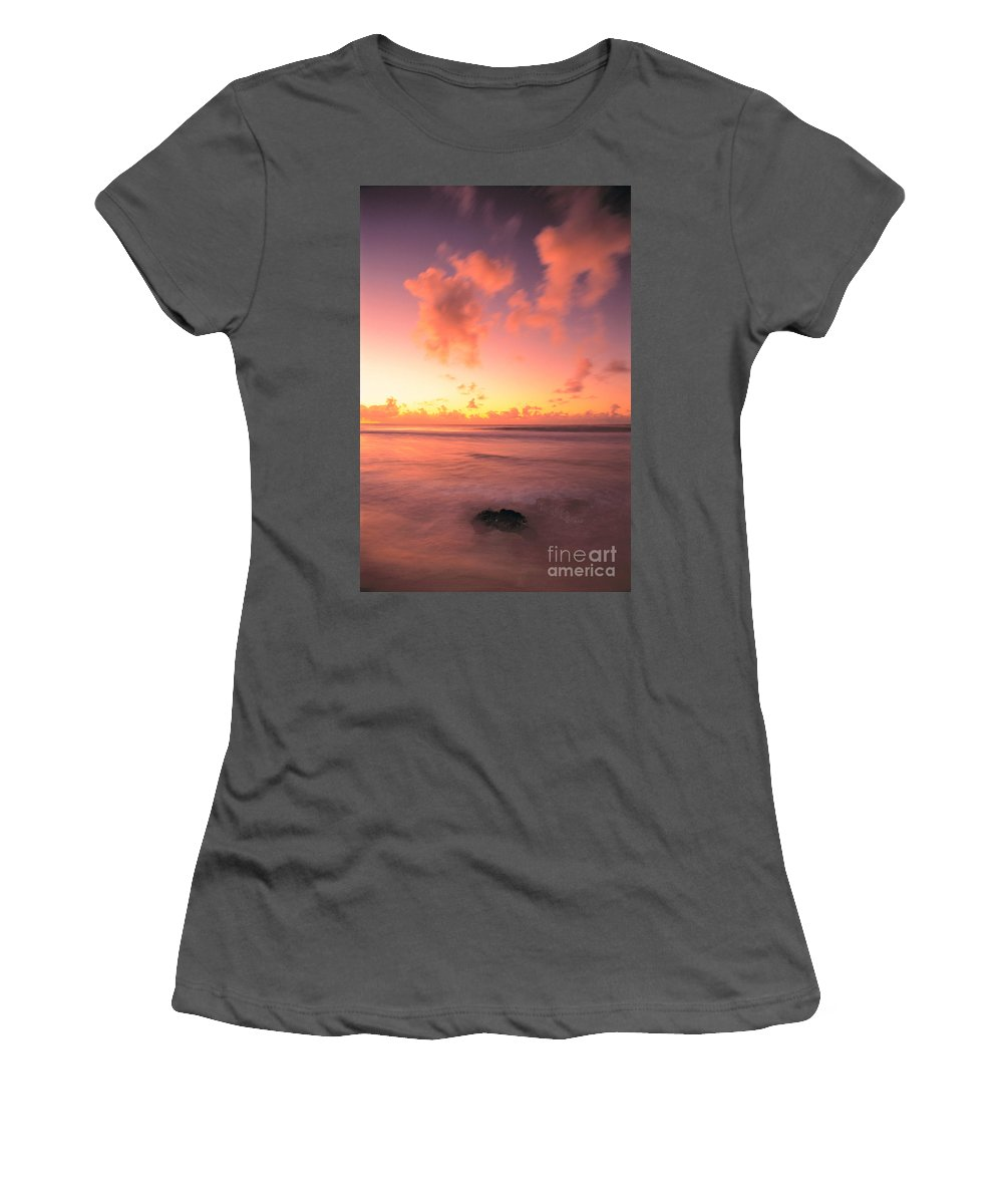 Active Women's T-Shirt (Athletic Fit) featuring the photograph Pink Reflections by Erik Aeder - Printscapes