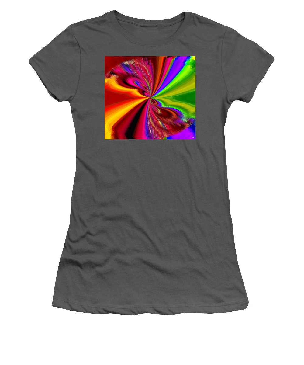 Abstract Women's T-Shirt (Athletic Fit) featuring the digital art Pizzazz 1 by Will Borden