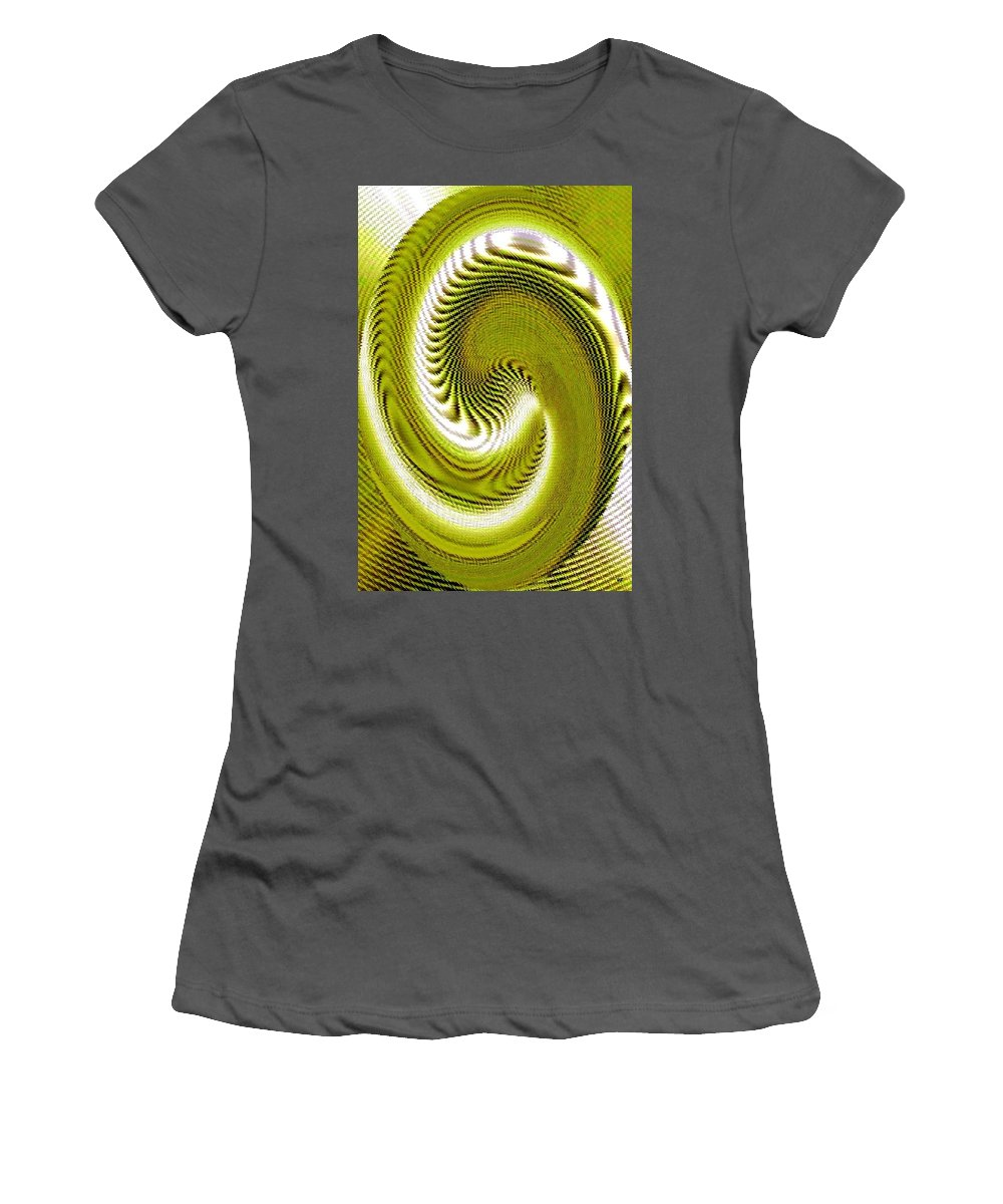 Abstract Women's T-Shirt (Athletic Fit) featuring the digital art Pizzazz 28 by Will Borden