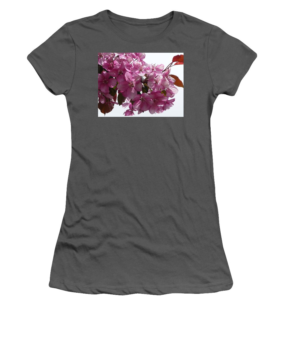 Flowers Women's T-Shirt (Athletic Fit) featuring the photograph Plum Perfect by Ruth Kamenev