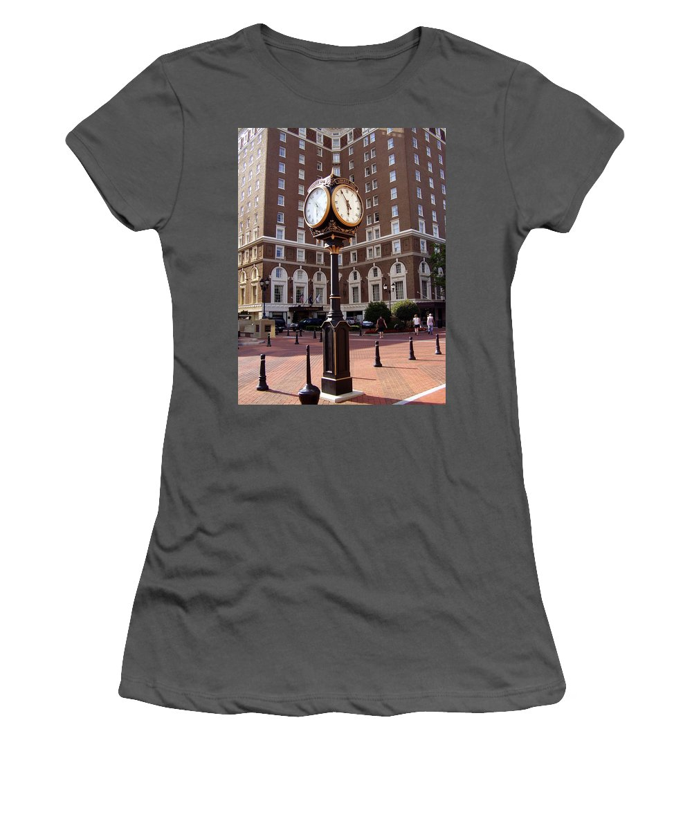 Poinsett Hotel Women's T-Shirt (Athletic Fit) featuring the photograph Poinsett Hotel Greeenville Sc by Flavia Westerwelle