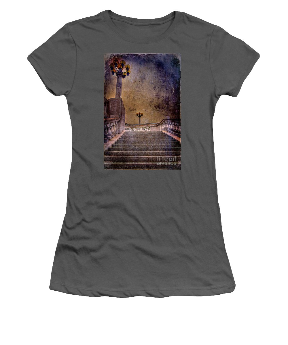 Architecture Women's T-Shirt (Athletic Fit) featuring the photograph Politics As Usual by Lois Bryan