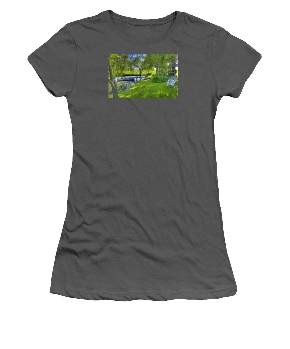 Pond Women's T-Shirt (Athletic Fit) featuring the photograph Pond Dreams 2 by Sam Davis Johnson
