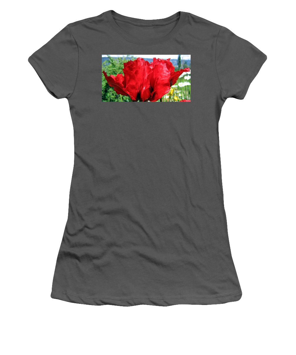 Poppies Women's T-Shirt (Athletic Fit) featuring the photograph Poppies Plus by Will Borden