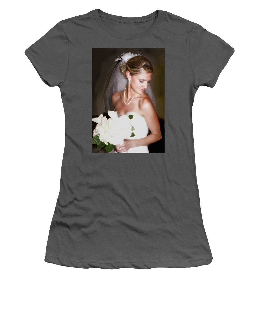 Bride Women's T-Shirt (Athletic Fit) featuring the photograph Portraitt Of The Bride by Heather Coen