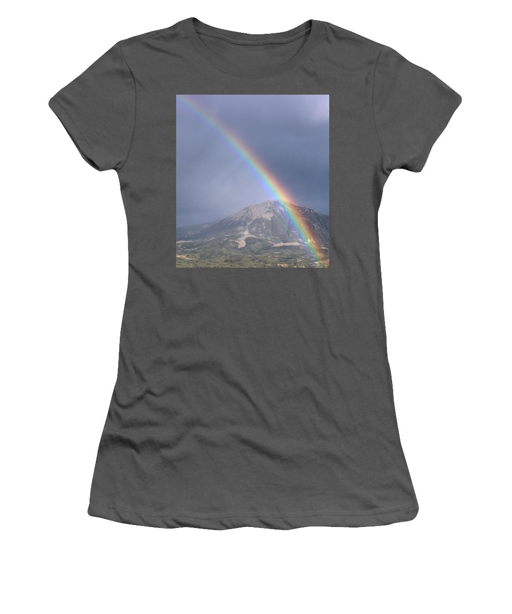 Landscape Women's T-Shirt (Athletic Fit) featuring the photograph Pot Of Gold by Samantha Burrow