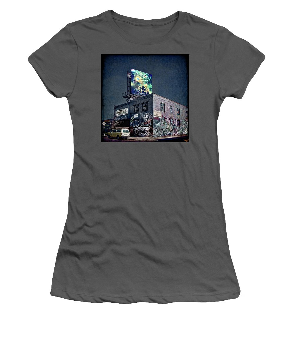 Graffiti Women's T-Shirt (Athletic Fit) featuring the photograph Power Brakes by Chris Lord