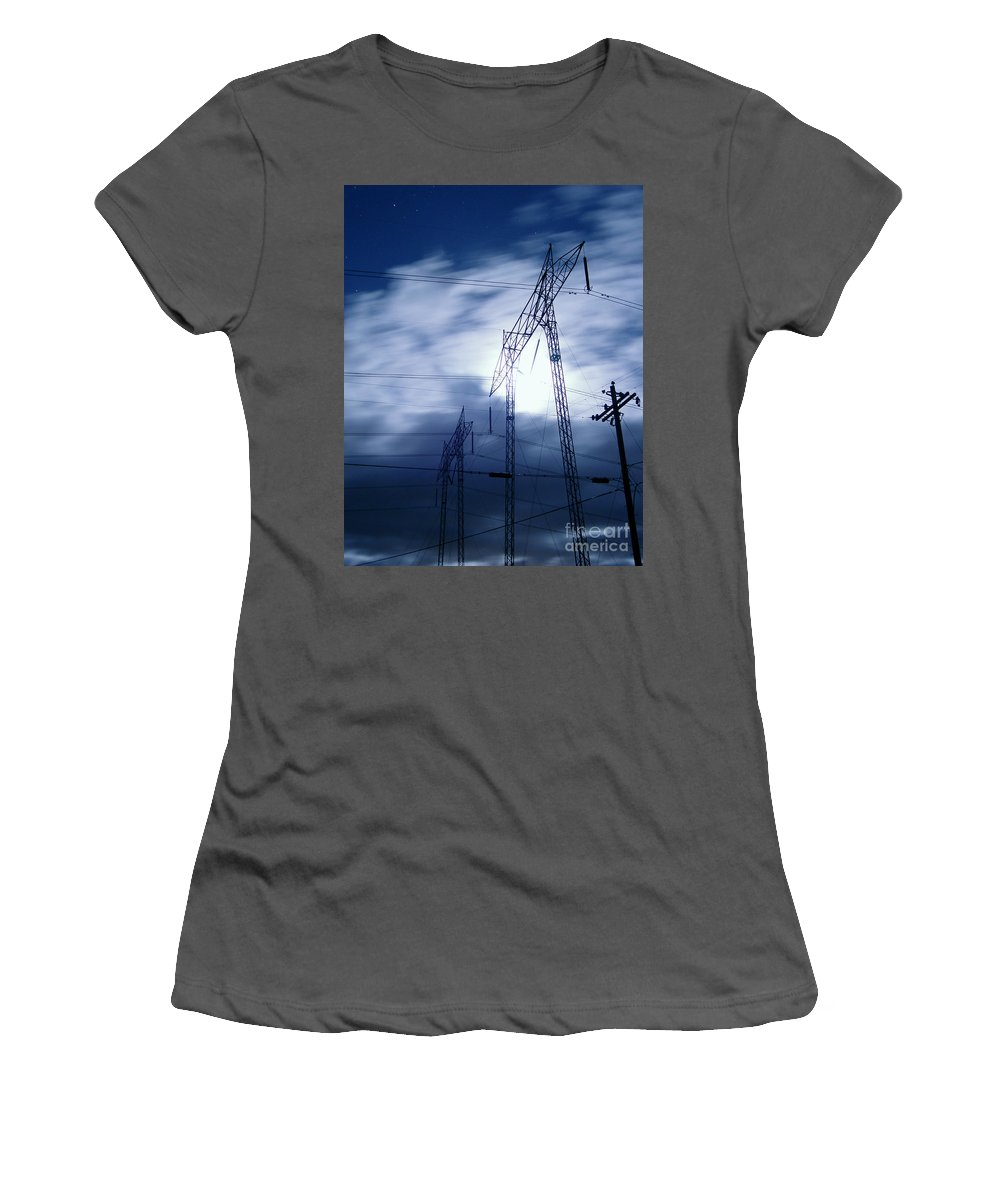 Clouds Women's T-Shirt (Athletic Fit) featuring the photograph Power Surge by Peter Piatt