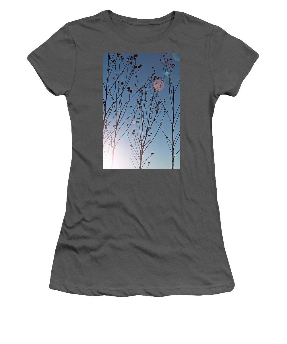 Midewin Women's T-Shirt (Athletic Fit) featuring the photograph Prairie Plants by Steve Gadomski