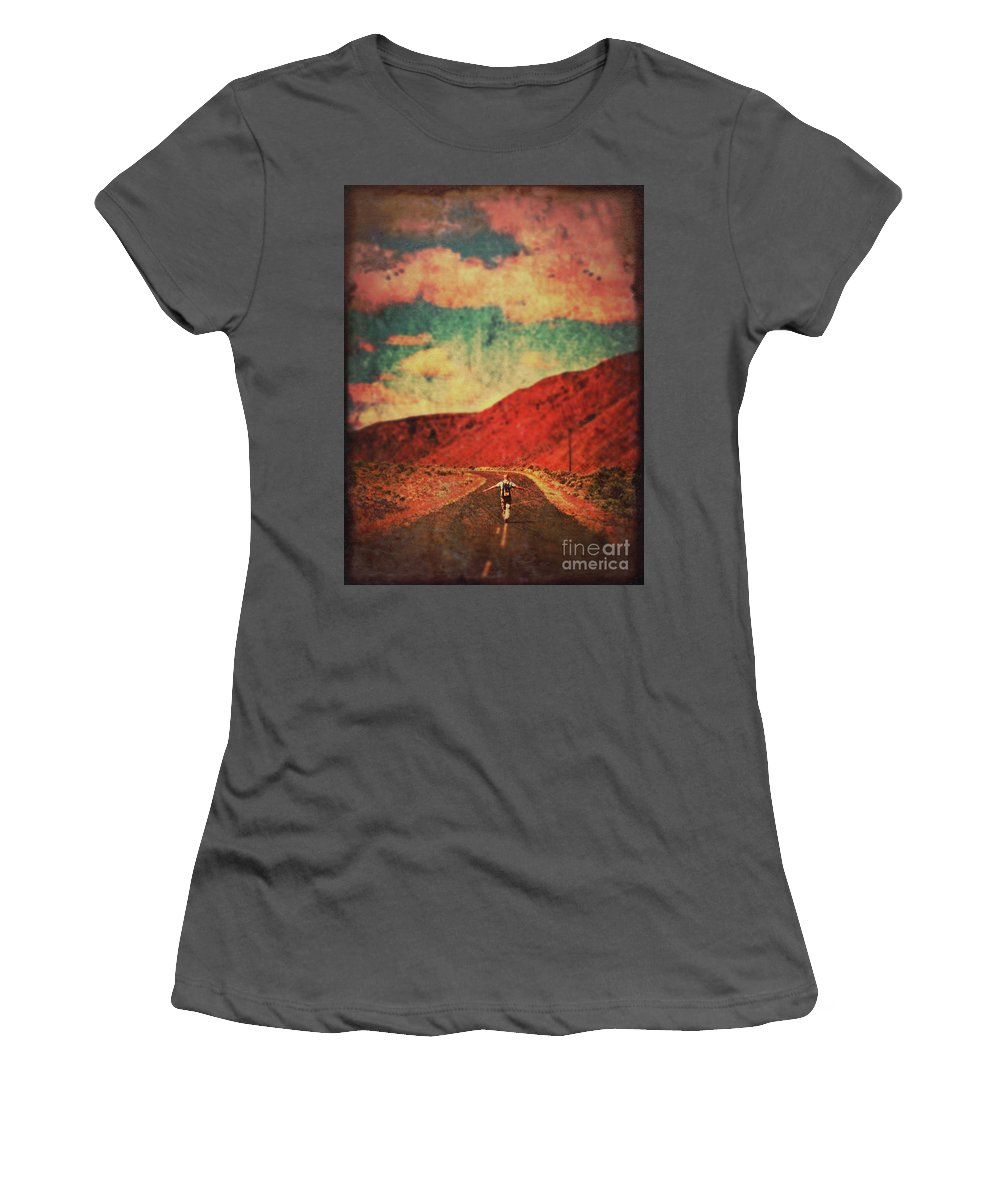 Landscape Women's T-Shirt (Athletic Fit) featuring the photograph Preparing For Take-off by Tara Turner