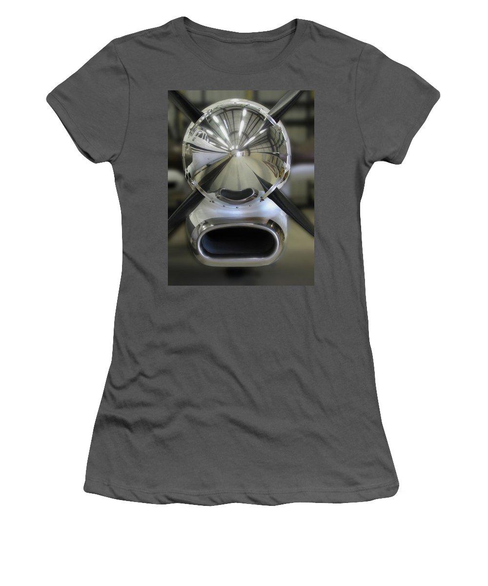 Prop It Open Women's T-Shirt (Athletic Fit) featuring the photograph Prop It Open by Peter Piatt