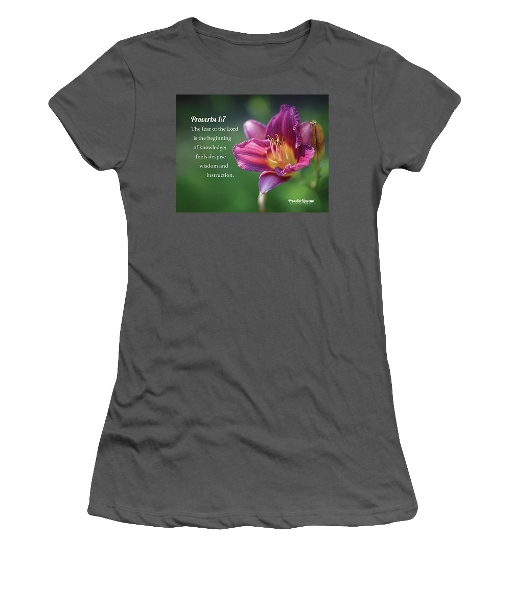 Psalm Women's T-Shirt (Athletic Fit) featuring the photograph Proverbs One Seven by Hansel Ong