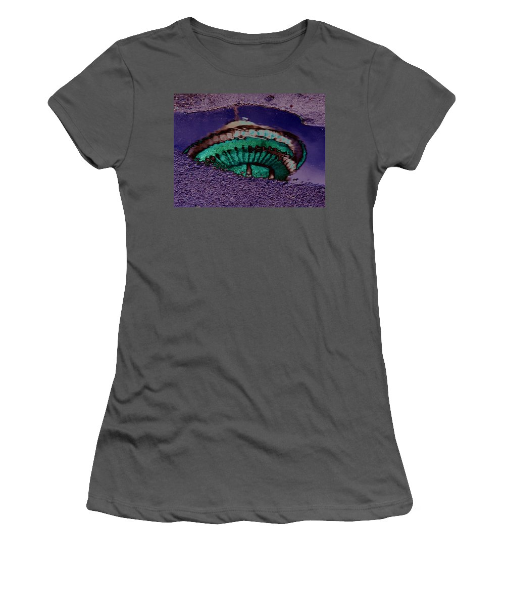 Seattle Women's T-Shirt (Athletic Fit) featuring the digital art Puddle Needle by Tim Allen