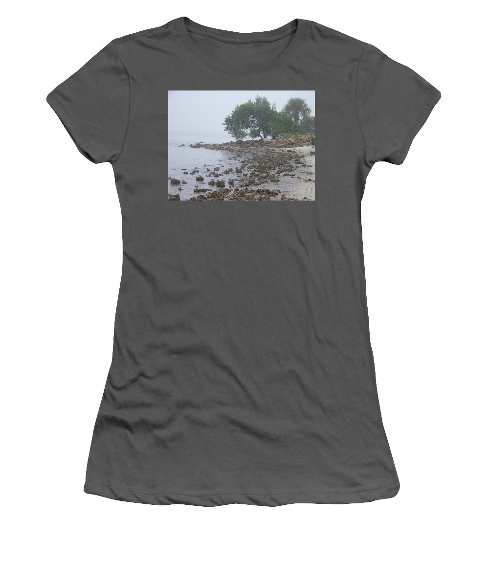 Mist Women's T-Shirt (Athletic Fit) featuring the photograph Punta Gorda by Laurie Paci
