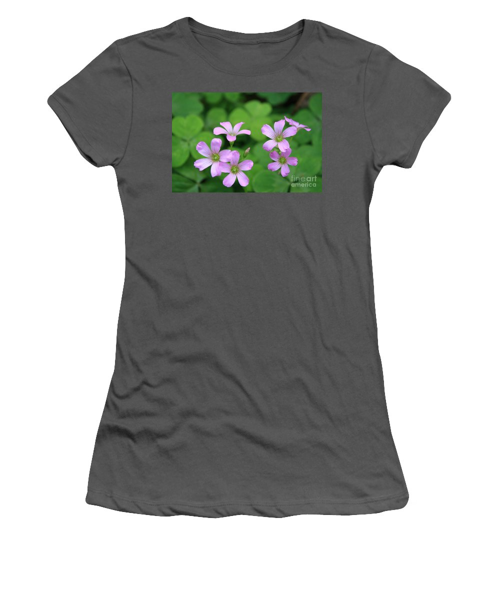 Clover Women's T-Shirt (Athletic Fit) featuring the photograph Purple Clover by John W Smith III