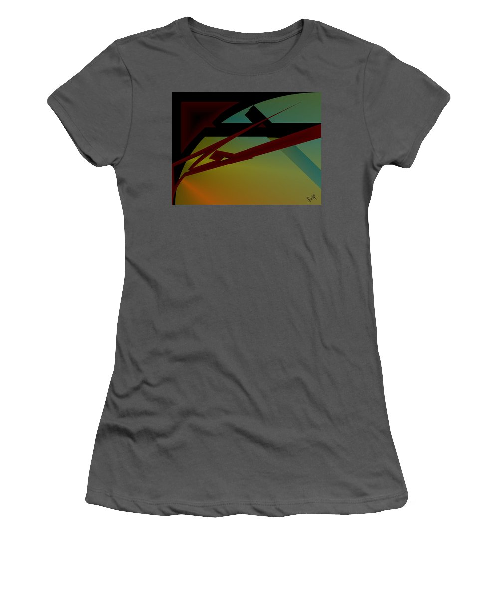 Quarter Women's T-Shirt (Athletic Fit) featuring the digital art Quarter by Helmut Rottler