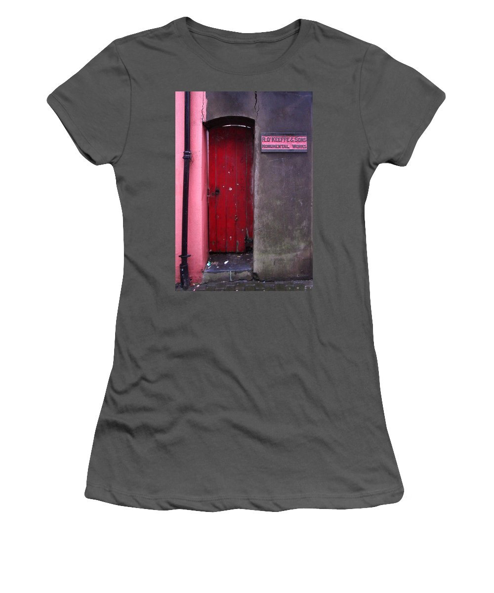 Red Women's T-Shirt (Athletic Fit) featuring the photograph R. O. Keeffee And Sons by Tim Nyberg