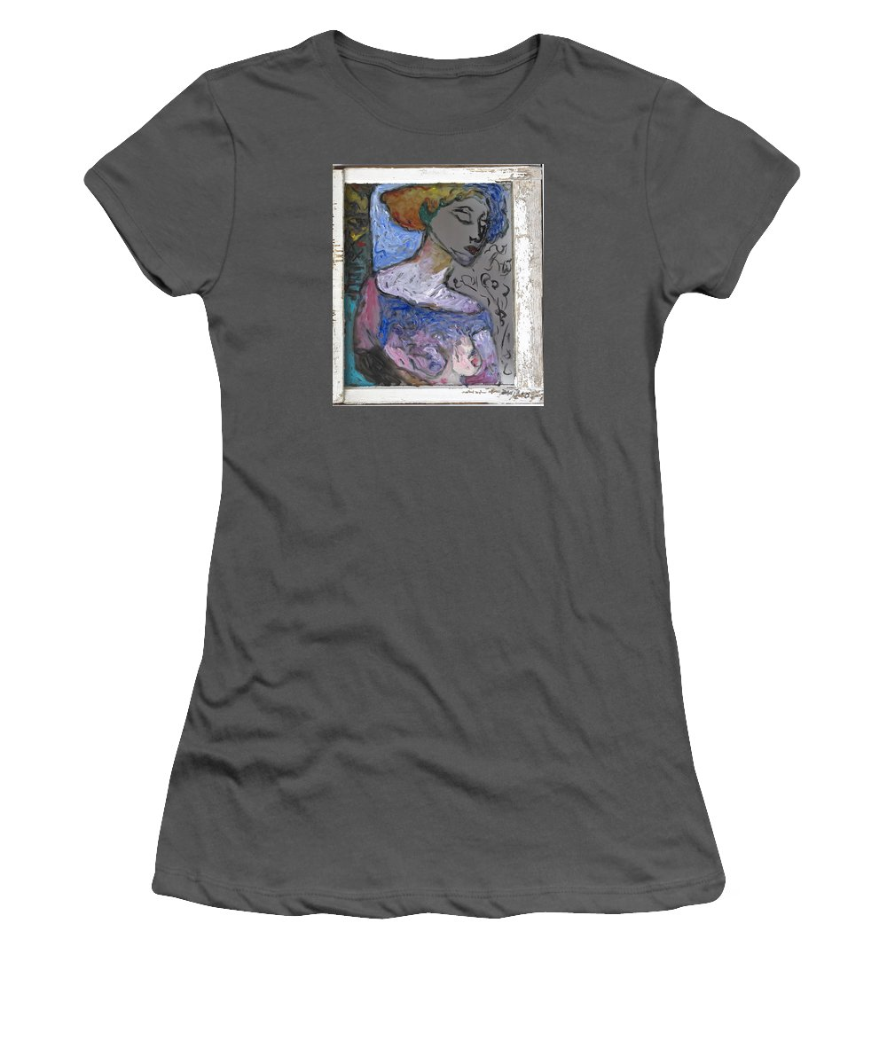 Glass Women's T-Shirt (Athletic Fit) featuring the painting Rachel by Mykul Anjelo