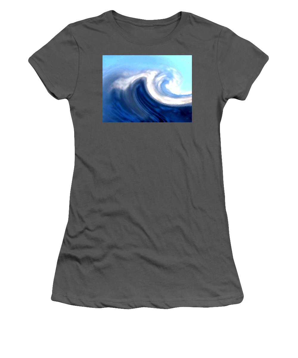 Abstract Women's T-Shirt (Athletic Fit) featuring the digital art Raging Sea by Will Borden
