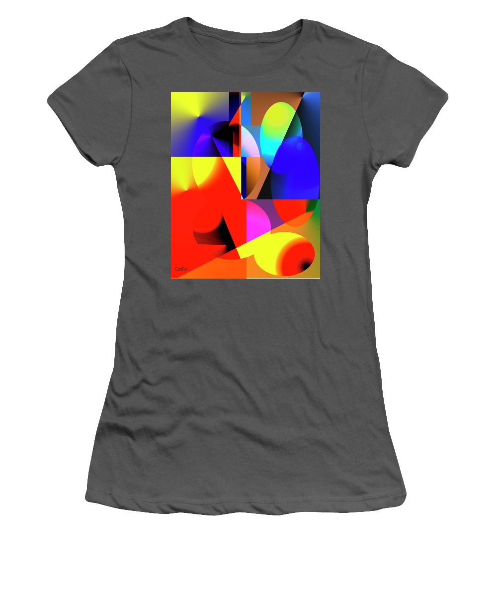 Abstract Women's T-Shirt (Athletic Fit) featuring the digital art Read Me by Betsy Knapp