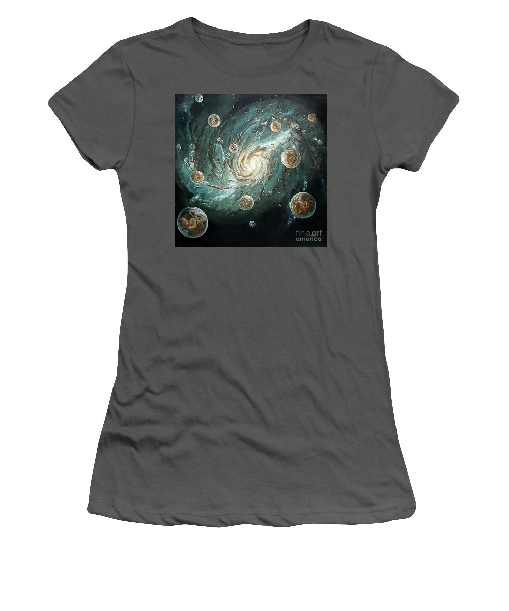 Indonesia Women's T-Shirt (Athletic Fit) featuring the painting Ready To Fight by Afri Ani