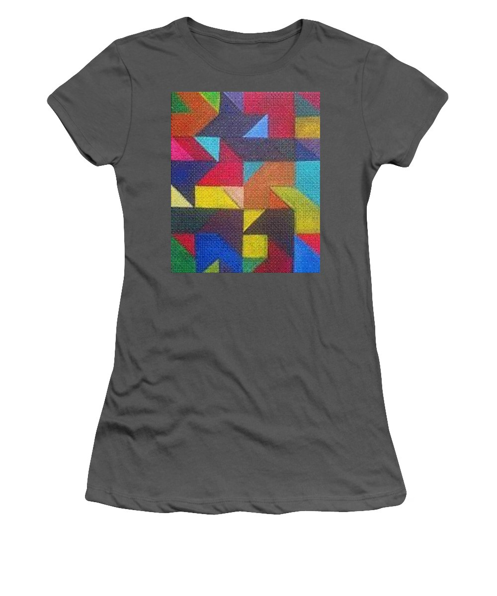 Digitalize Image Women's T-Shirt (Athletic Fit) featuring the digital art Real Sharp by Andrew Johnson