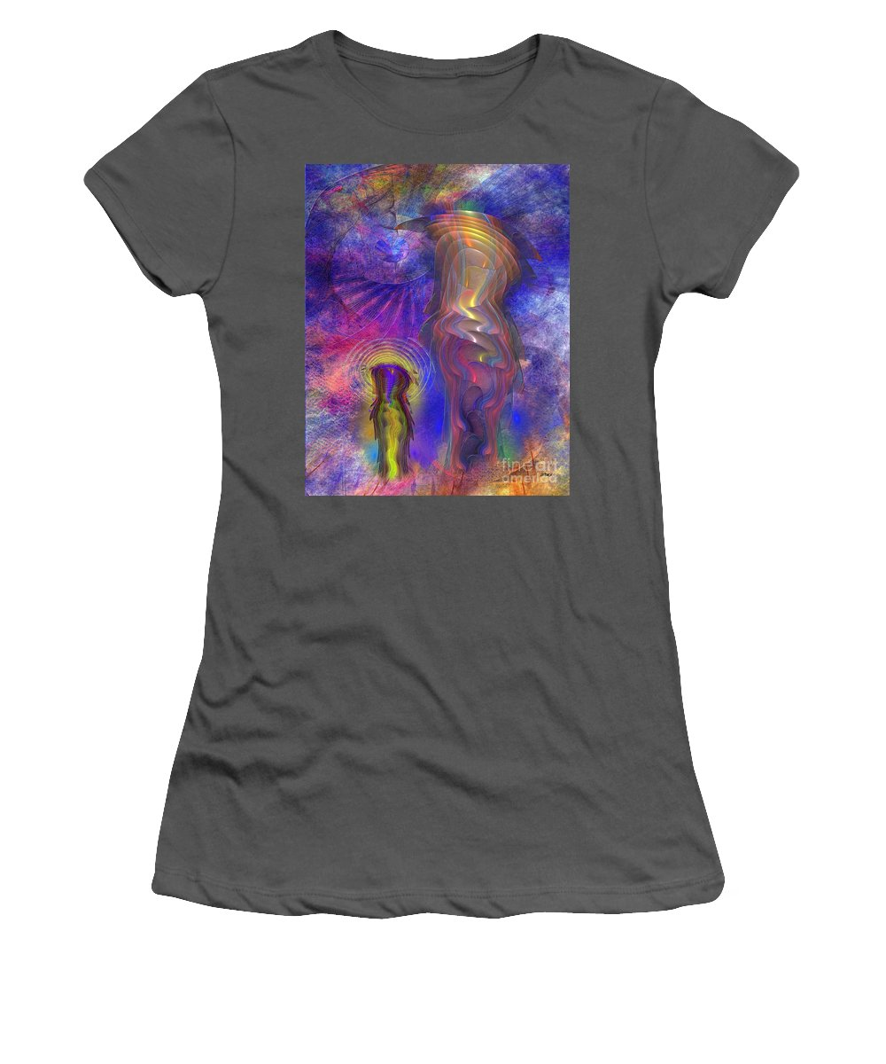Reflective Peace Women's T-Shirt (Athletic Fit) featuring the digital art Reflective Peace by John Beck