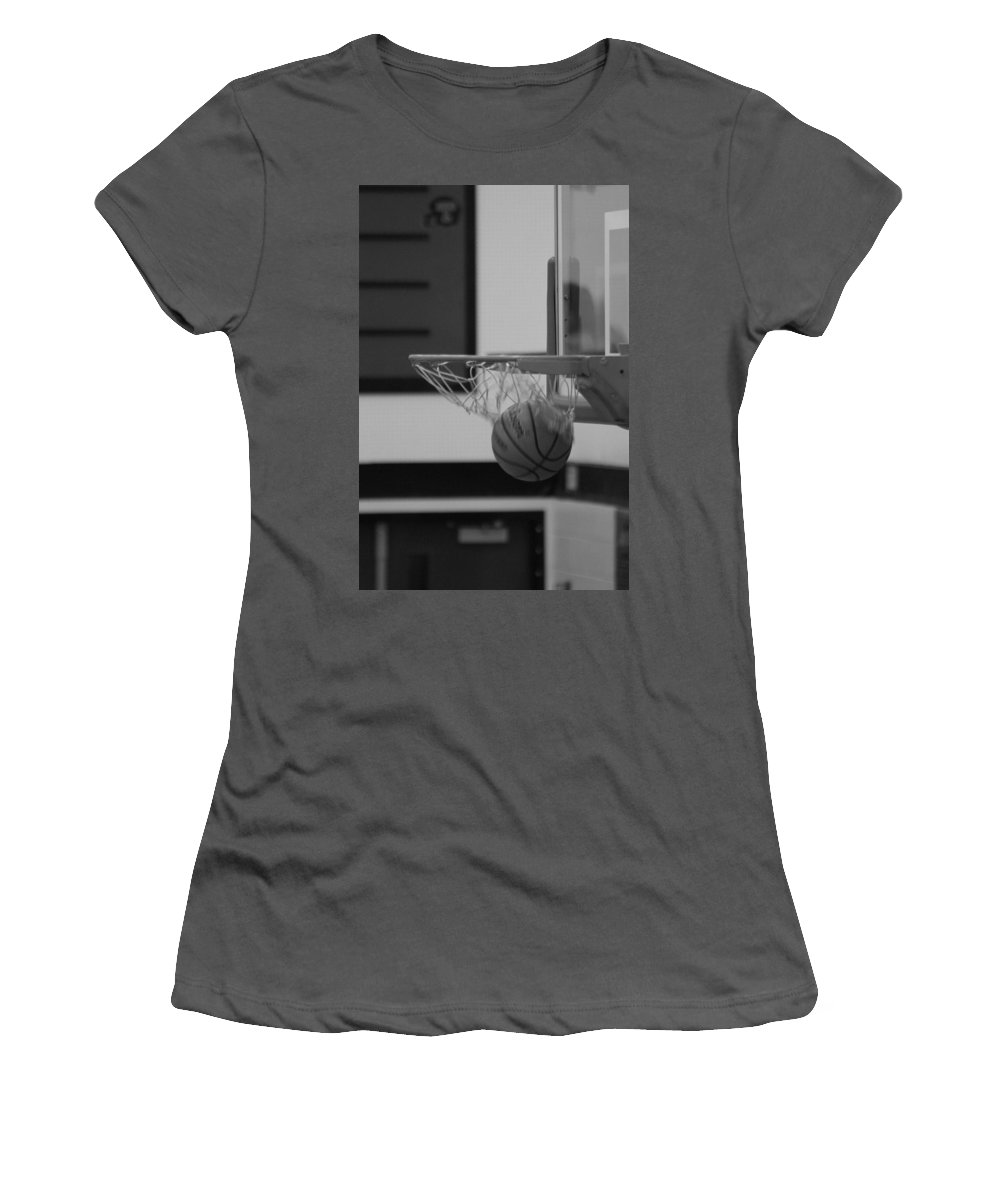 Basketball Women's T-Shirt (Athletic Fit) featuring the photograph Release From The Net by Laddie Halupa