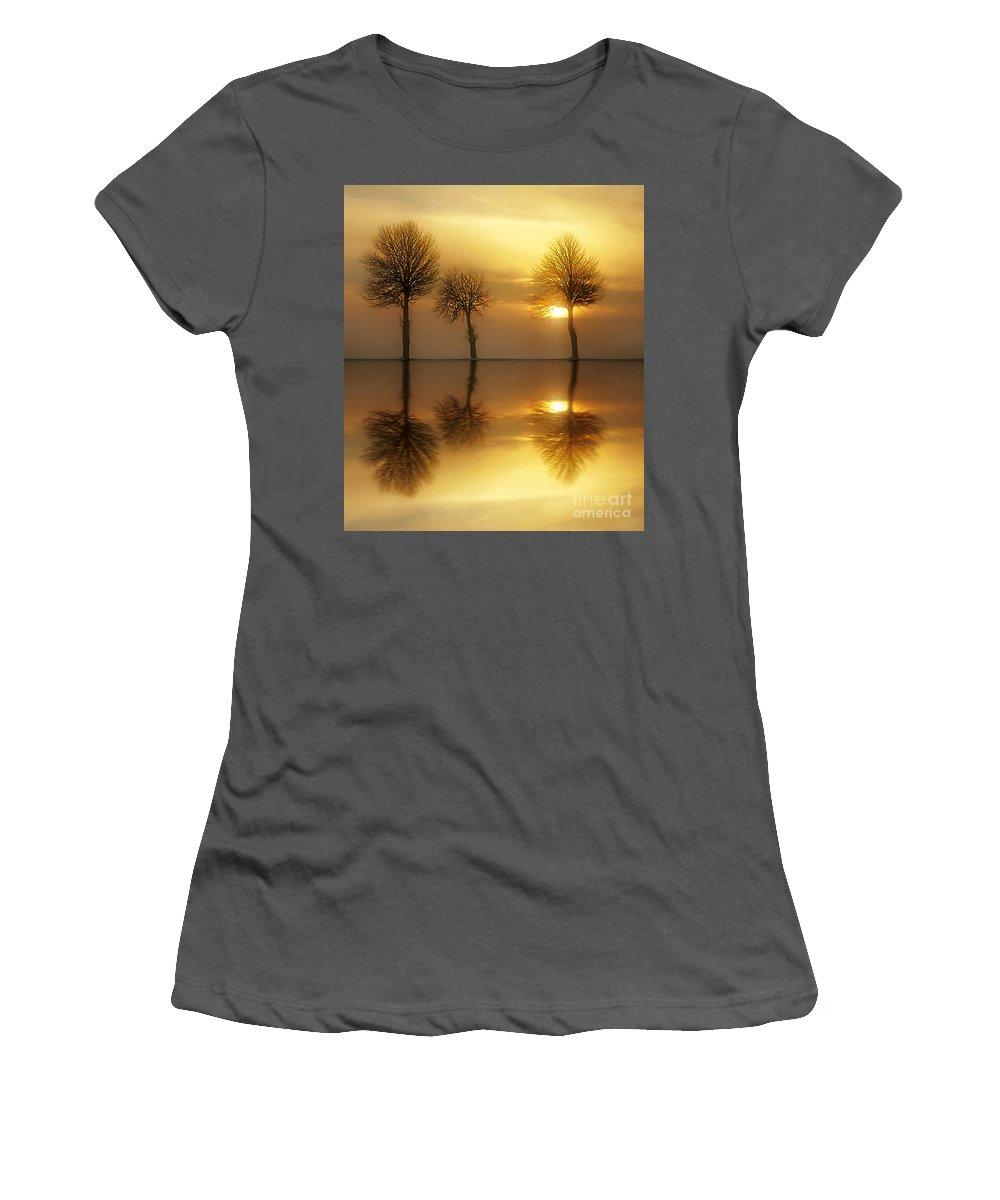 Sunset Women's T-Shirt (Athletic Fit) featuring the photograph Remains Of The Day by Jacky Gerritsen