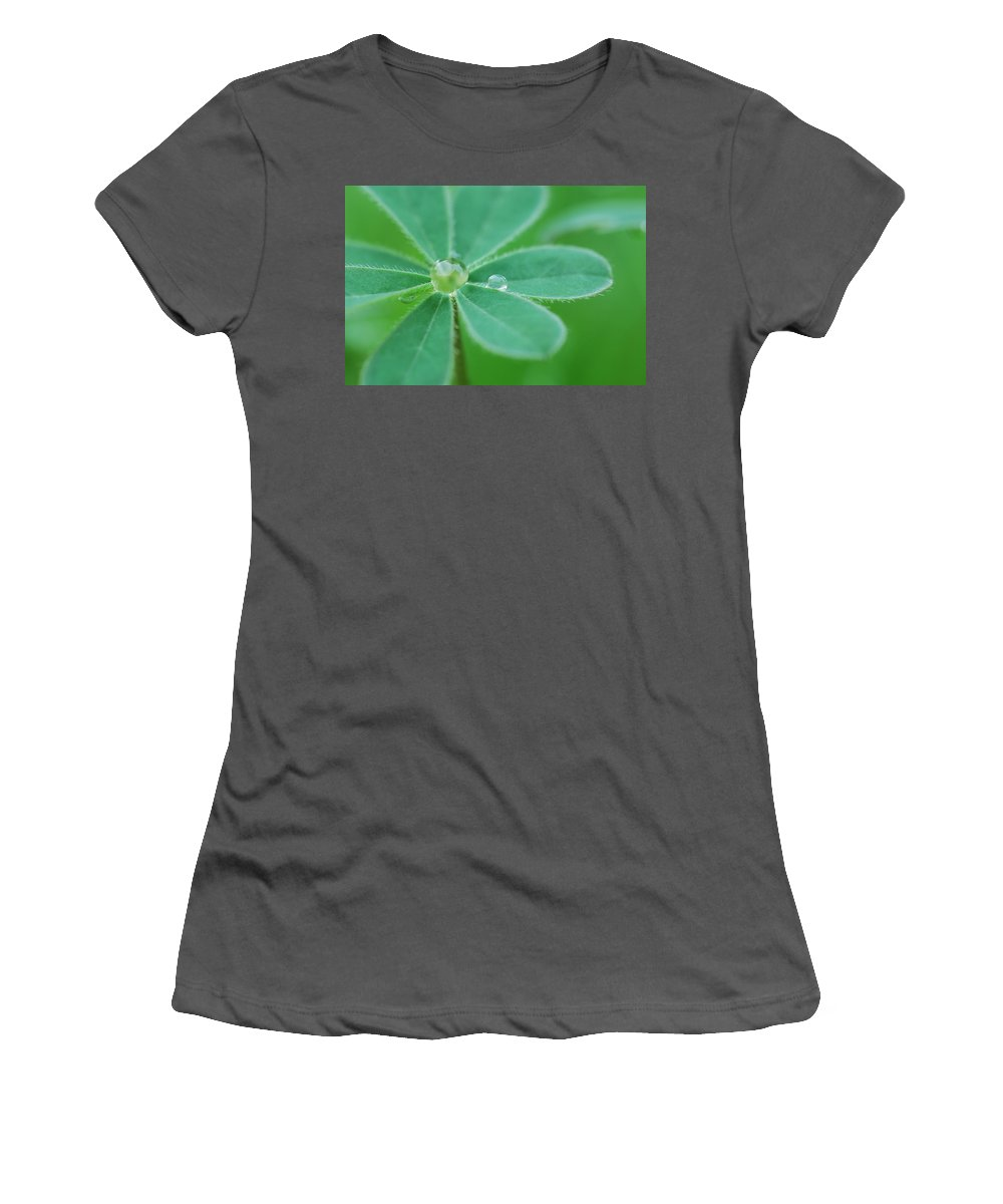 Plant Women's T-Shirt (Athletic Fit) featuring the photograph Retaining Water by Donna Blackhall