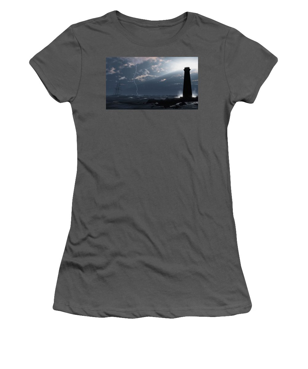 Nautical Women's T-Shirt (Athletic Fit) featuring the digital art Return Of The Lost by Richard Rizzo