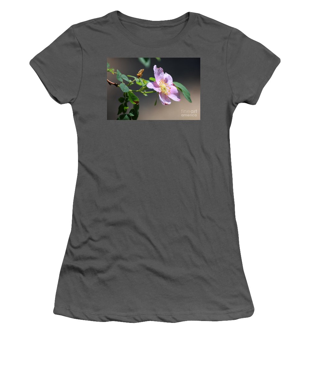Floral Women's T-Shirt (Athletic Fit) featuring the photograph Rimrock Rose by Carol Groenen