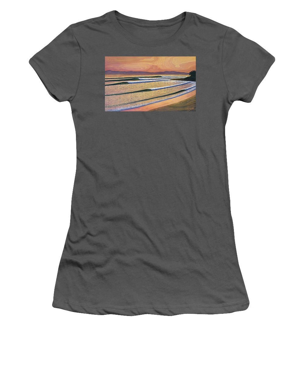 Rincon Women's T-Shirt (Athletic Fit) featuring the painting Rincon by Nathan Ledyard