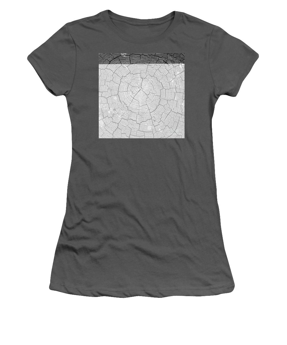 Tree Rings Women's T-Shirt (Athletic Fit) featuring the photograph Rings Of Life by David Lee Thompson