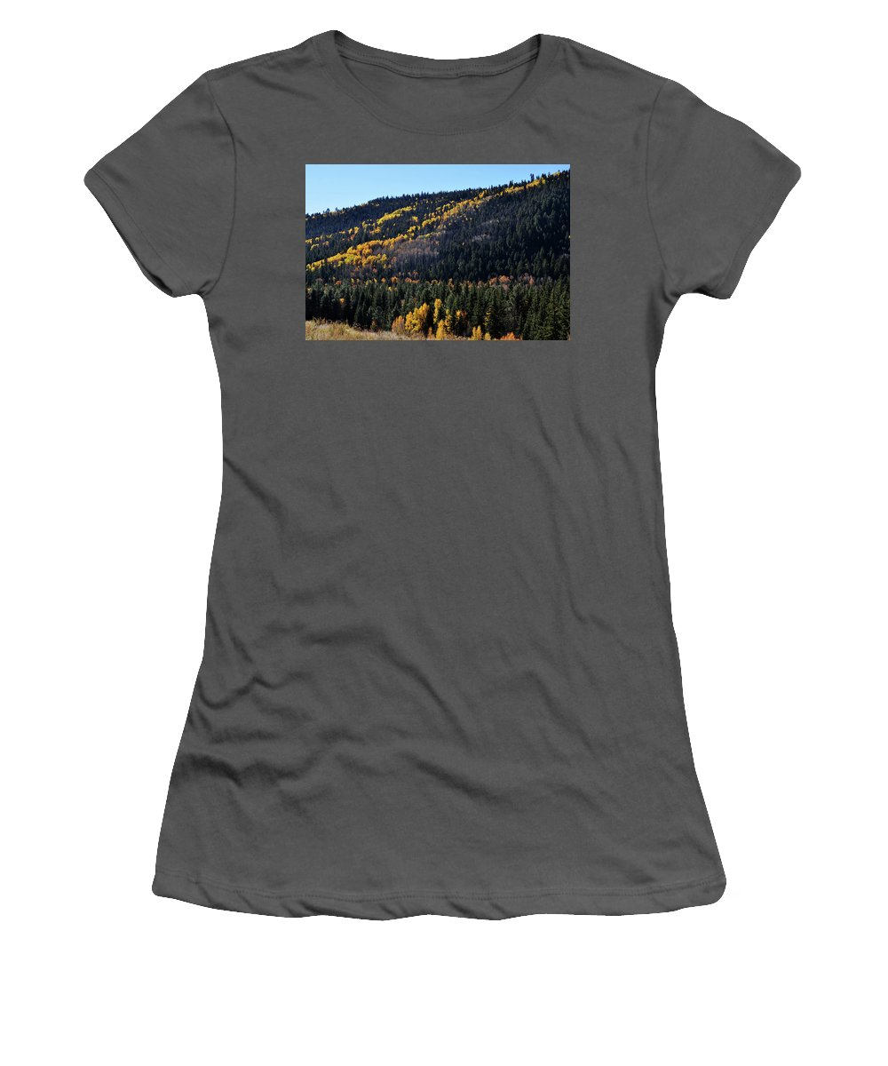 National Forest Service Women's T-Shirt (Athletic Fit) featuring the photograph Rio Grande National Forest by Wes Hanson