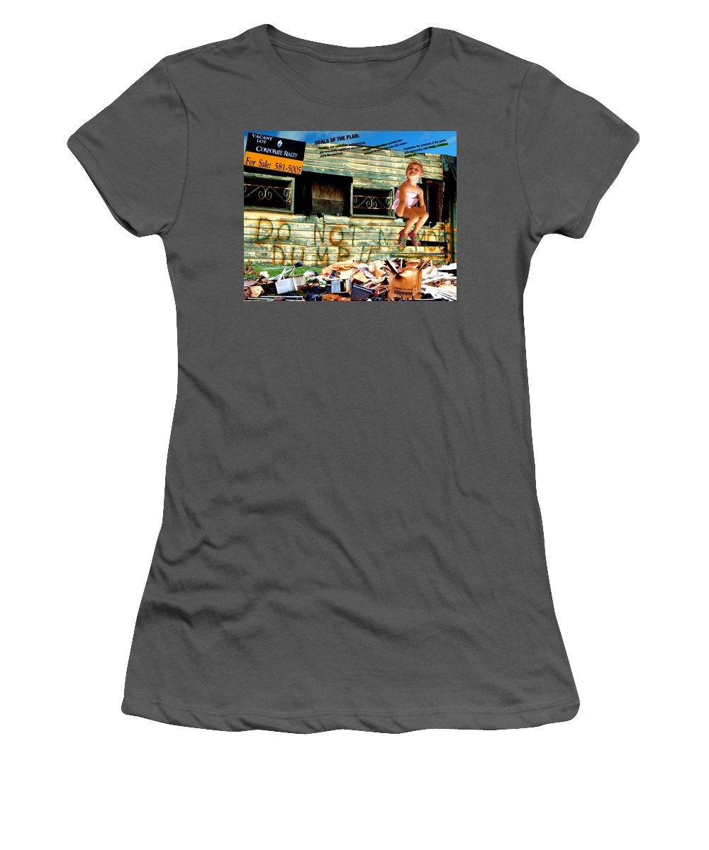 Riverfront Development Women's T-Shirt (Athletic Fit) featuring the photograph Riverfront Visions by Ze DaLuz