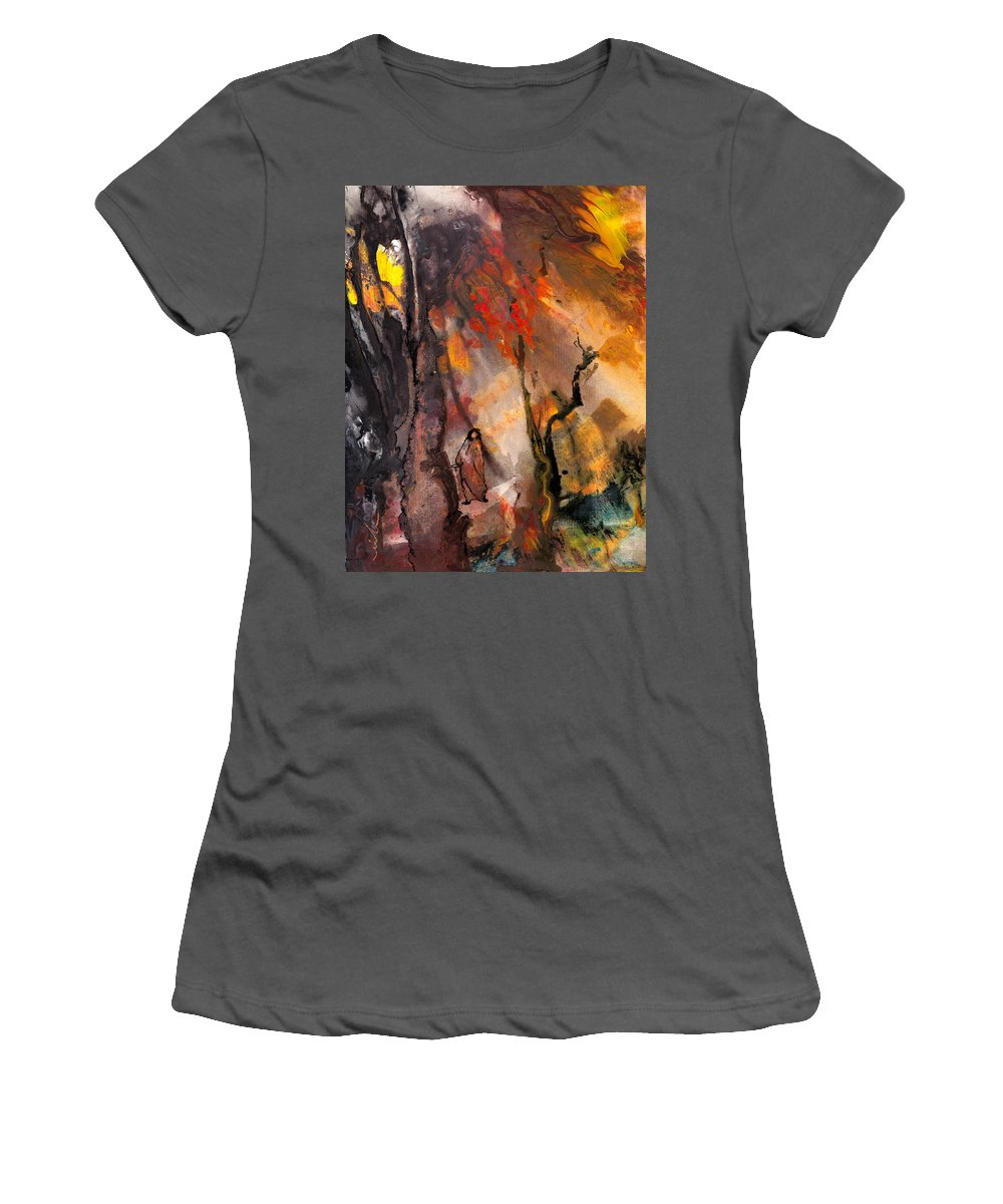 Fantasy Women's T-Shirt (Athletic Fit) featuring the painting Road To Nowhere by Miki De Goodaboom