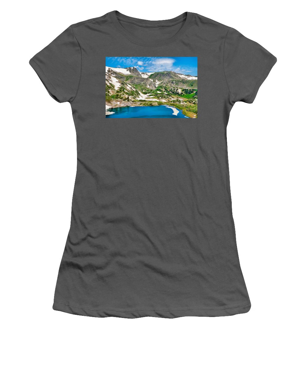 Rollins Women's T-Shirt (Athletic Fit) featuring the photograph Rollins Pass Study 5 by Robert Meyers-Lussier