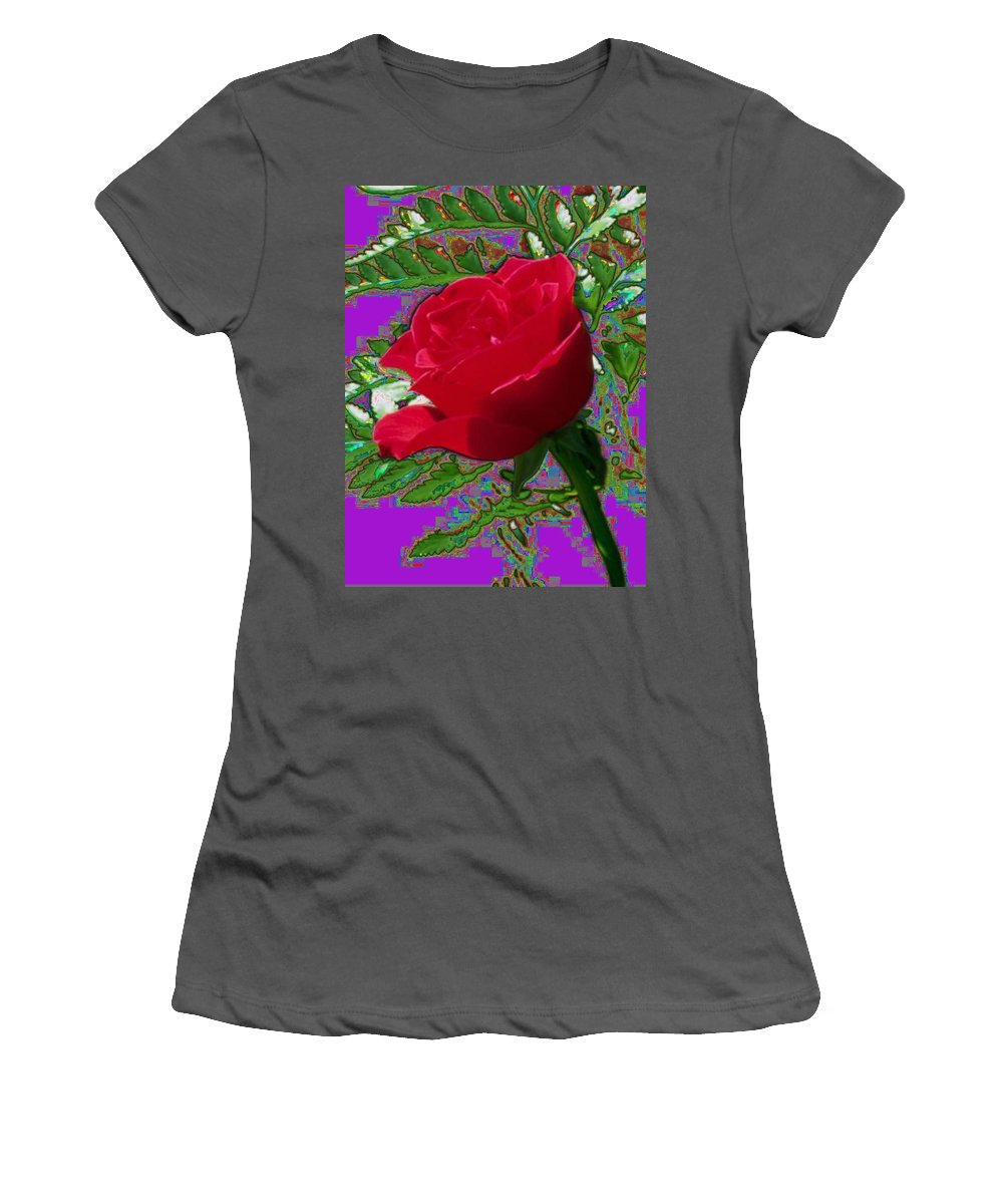 Rose Women's T-Shirt (Athletic Fit) featuring the photograph Rose For You by Tim Allen