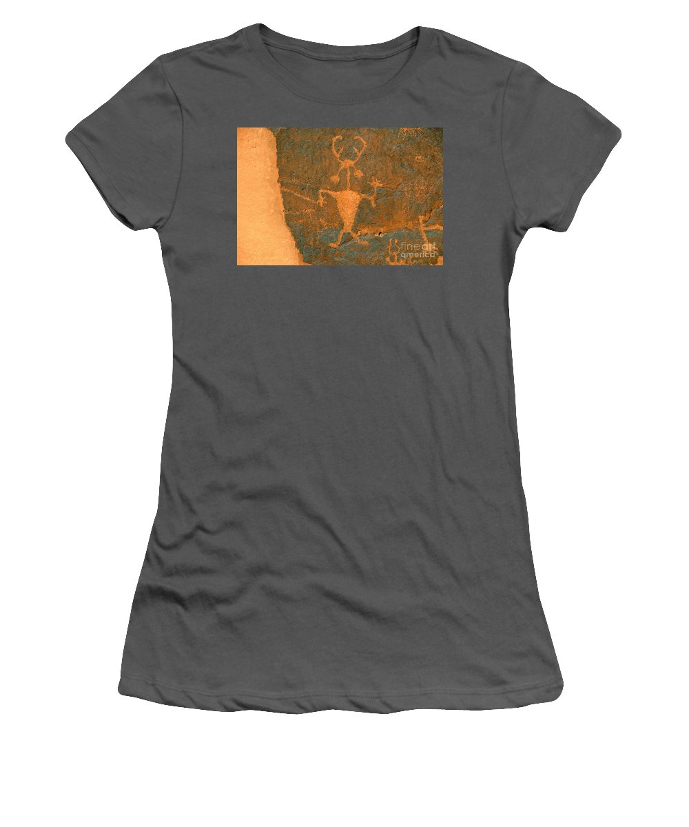 Running Women's T-Shirt (Athletic Fit) featuring the photograph Running Man by David Lee Thompson