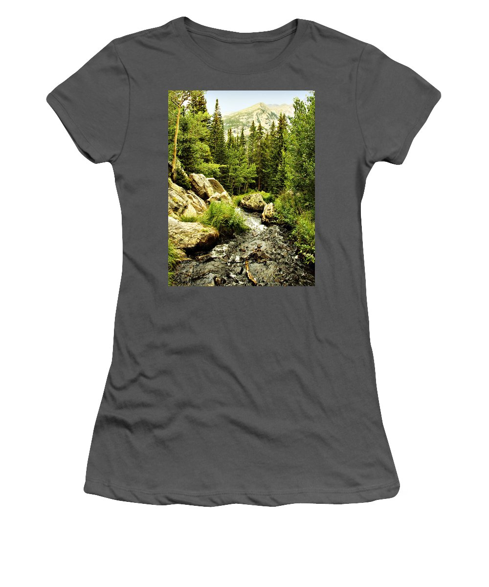 Colorado Women's T-Shirt (Athletic Fit) featuring the photograph Running River by Marilyn Hunt