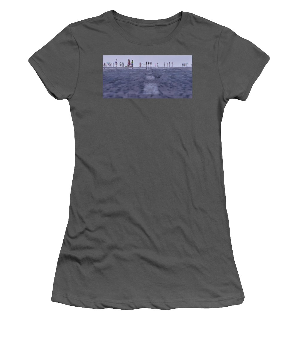 Runway Women's T-Shirt (Athletic Fit) featuring the photograph Runway by Naoki Takyo