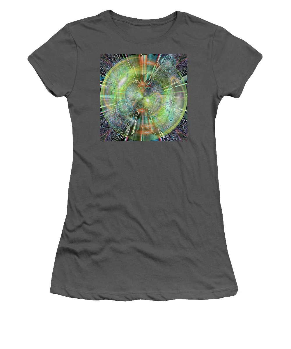 Abstract Women's T-Shirt (Athletic Fit) featuring the digital art Rush Hour by Tim Allen
