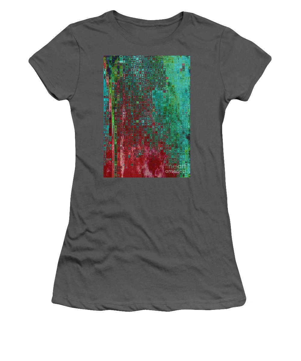 Abstract Women's T-Shirt (Athletic Fit) featuring the digital art Rust Abstract by Carol Groenen
