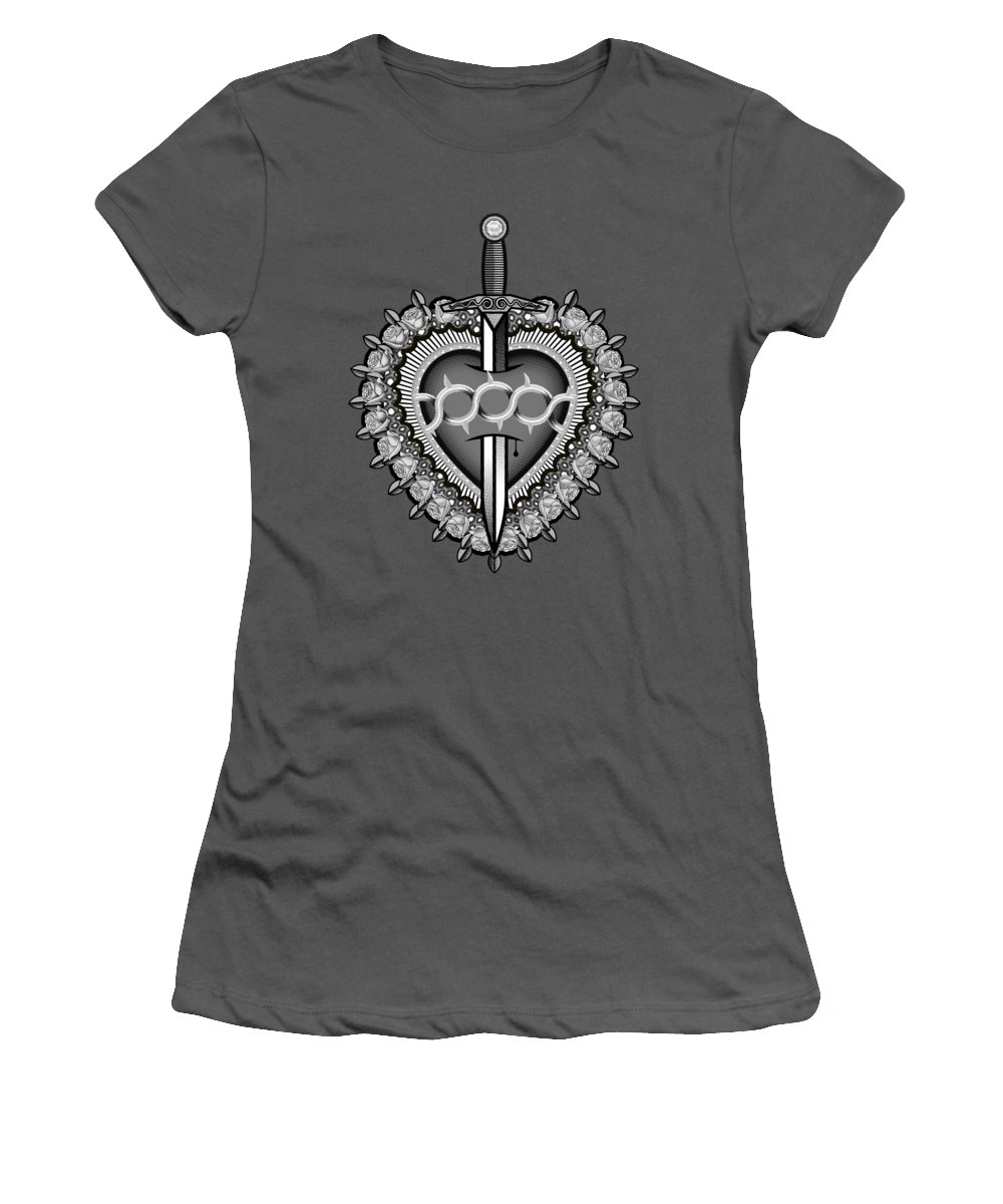 Sacred Women's T-Shirt (Athletic Fit) featuring the digital art Sacred Heart by David Perez