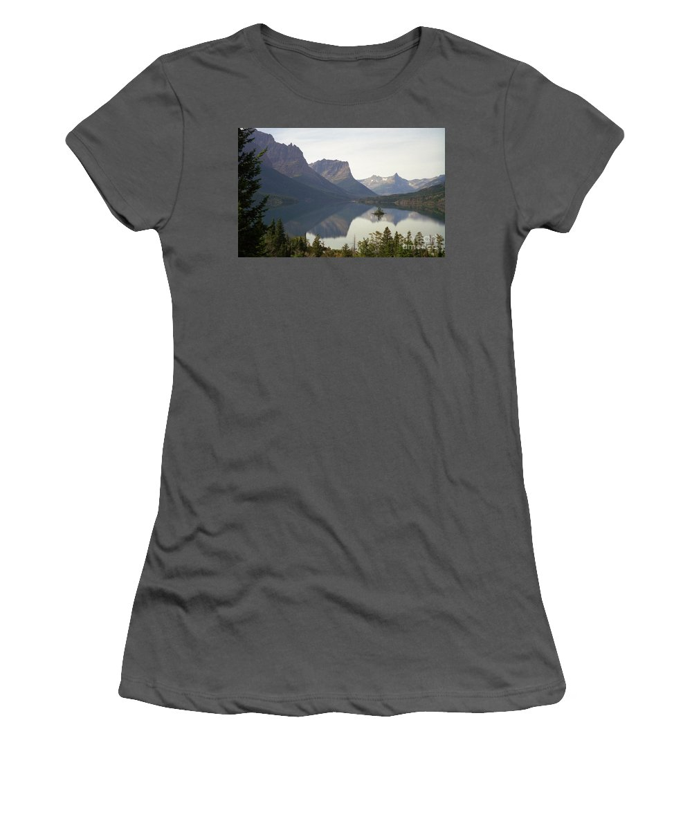 Lake Women's T-Shirt (Athletic Fit) featuring the photograph Saint Marys Lake by Richard Rizzo
