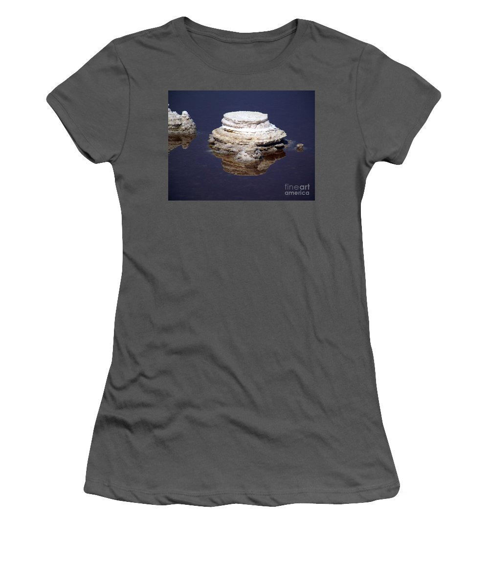 Salt; Formation Women's T-Shirt (Athletic Fit) featuring the photograph salt cristal at the Dead Sea Israel by Avi Horovitz