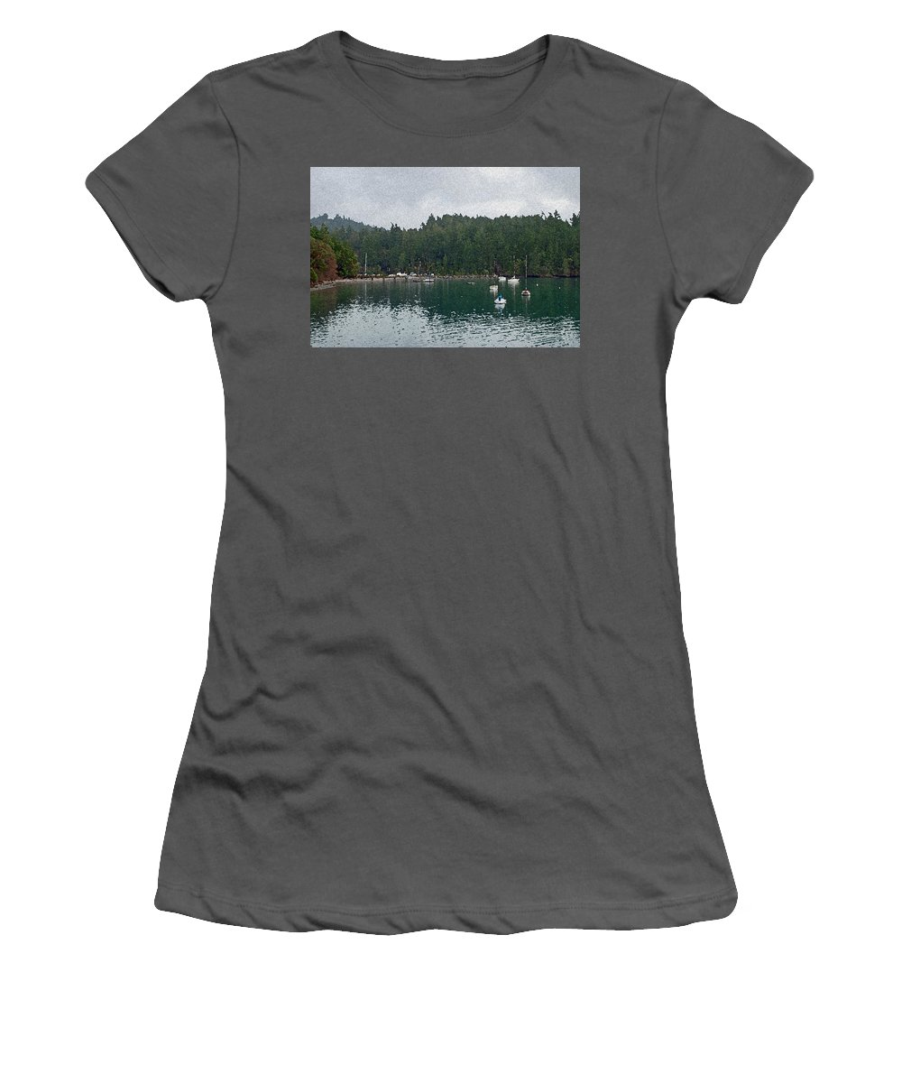 Ocean Women's T-Shirt (Athletic Fit) featuring the photograph San Juan Islands by Carol Eliassen