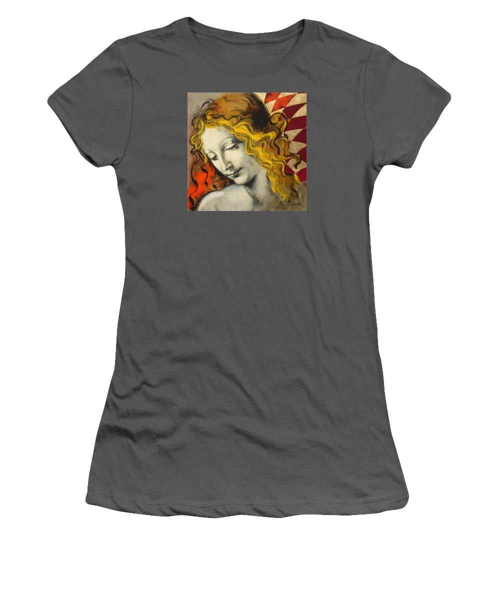 Classical Women's T-Shirt (Athletic Fit) featuring the painting Sensuali by Jean Pierre Rousselet