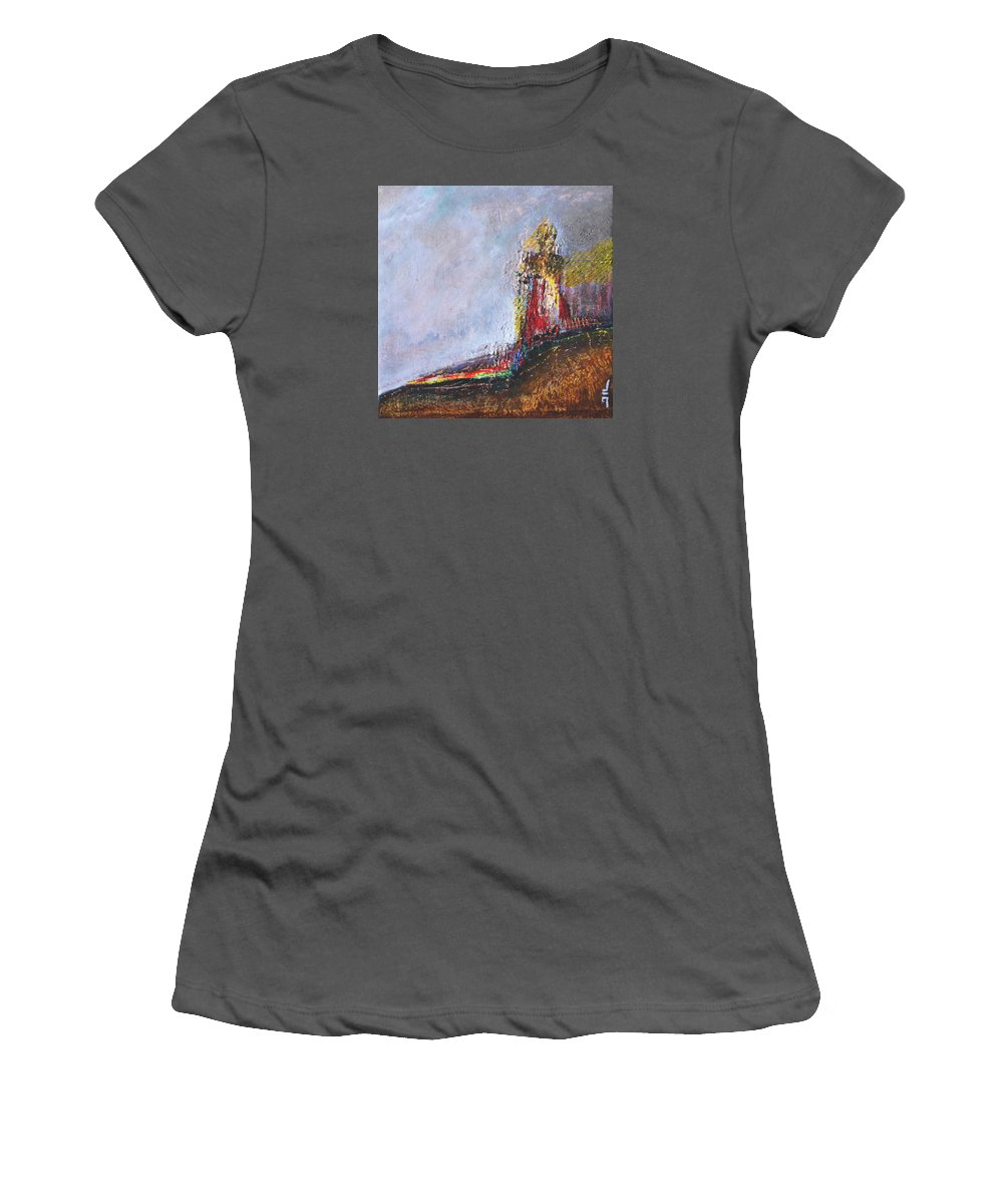 Painting Women's T-Shirt (Athletic Fit) featuring the painting Sentinelle by Jean-luc Lacroix